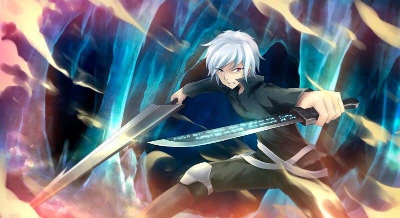 типа крутая стойка героя с мечами