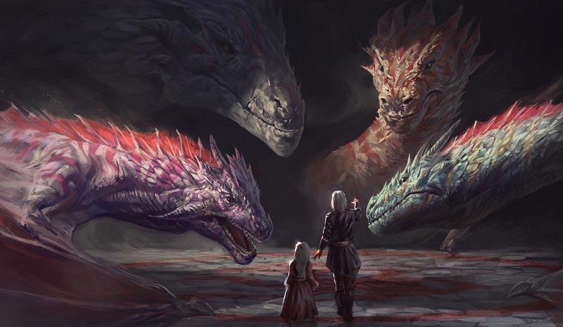 Нарисованный дом драконов скоро оживет в новом сериале от HBO