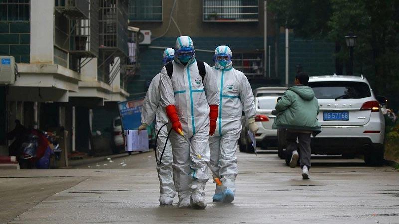 дезинфекция улиц в китае